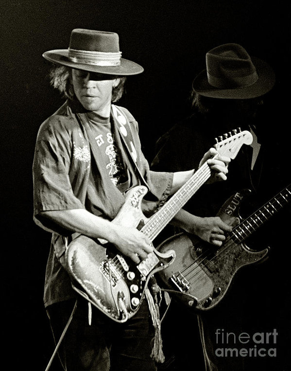 Chuck Spang - Stevie Ray Vaughan 1984 Print