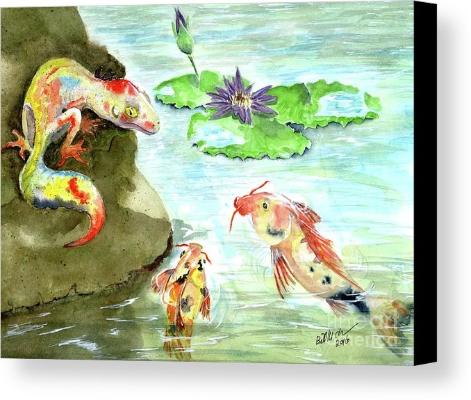 Bill McClurg - Lizard and fish Print