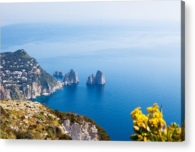 Susan Schmitz - View of Amalfi Coast Print