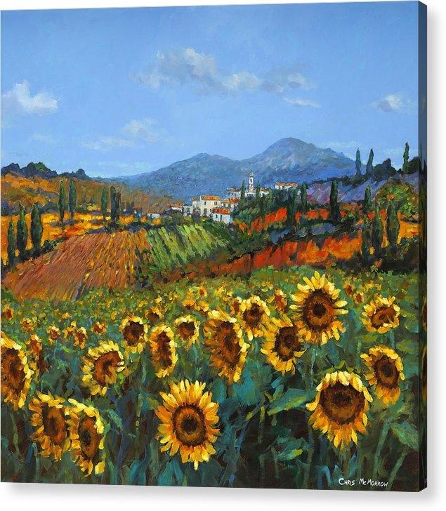 Chris Mc Morrow - Tuscan Sunflowers Print