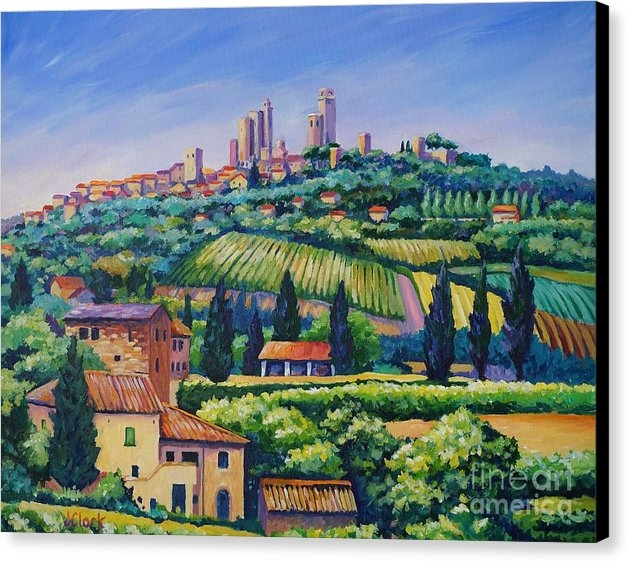 John Clark - The Towers of San Gimigna... Print