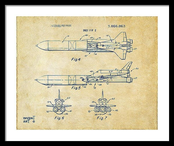 Nikki Marie Smith - 1975 Space Vehicle Patent... Print