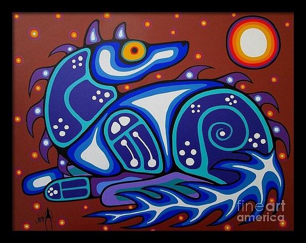 Jim Oskineegish - Spirit Wolf Print