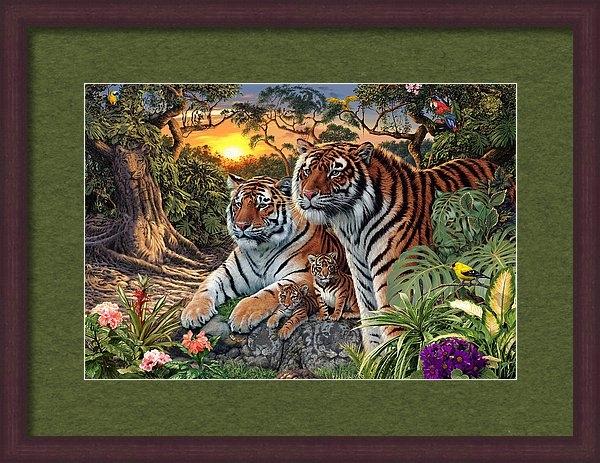 Steve Read - Hidden Images - Tigers Print