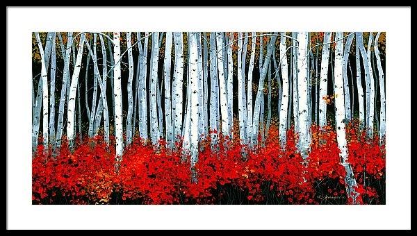 Michael Swanson - Birch 24 x 48  Print