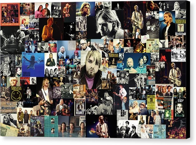 Taylan Apukovska - Nirvana collage Print
