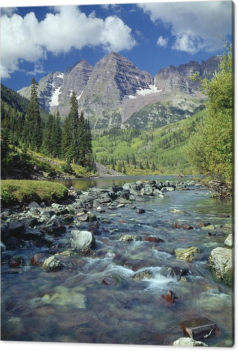 Ed  Cooper Photography - 210404-Maroon Bells and C... Print