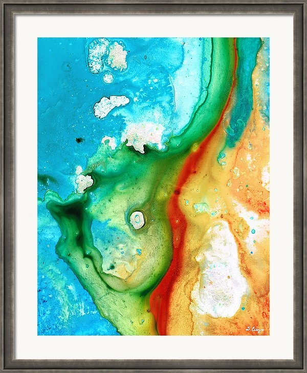 Sharon Cummings - Colorful Abstract Art - C... Print