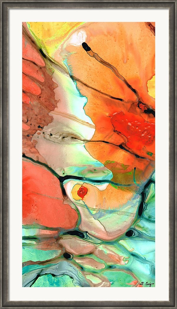 Sharon Cummings - Red Abstract Art - Decade... Print