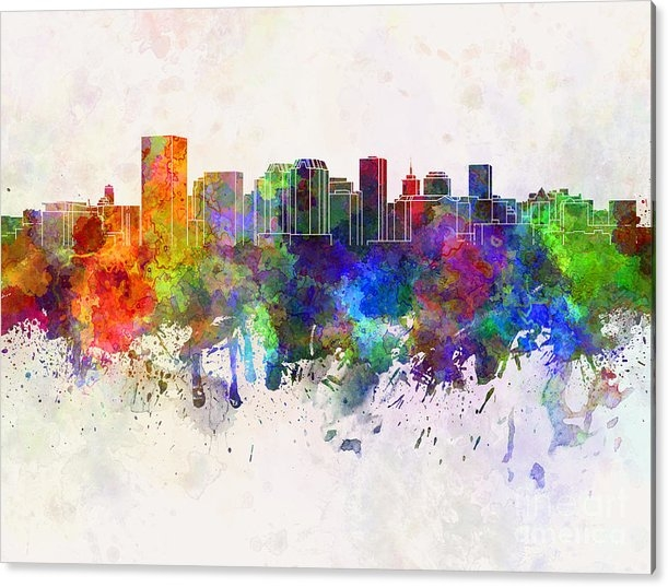 Pablo Romero - Richmond skyline in water... Print