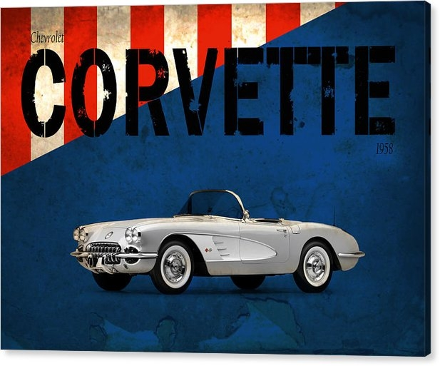 Mark Rogan - Chevrolet Corvette 1958 Print