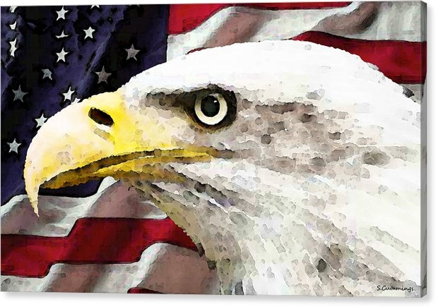Sharon Cummings - Bald Eagle Art - Old Glor... Print