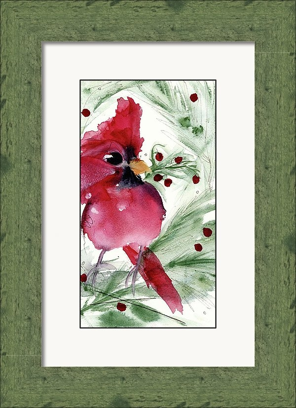 Dawn Derman - Christmas Cardinal Print