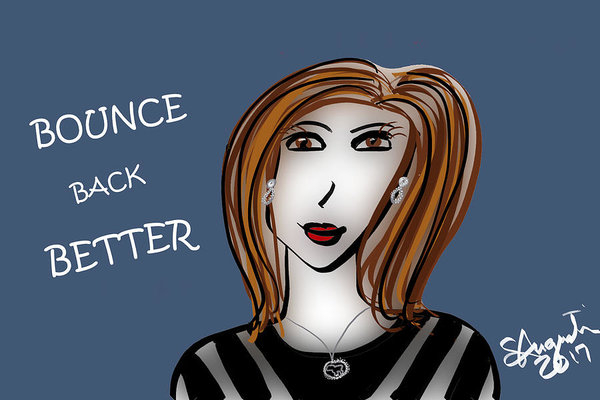 Sharon Augustin - Bounce Back Better - V2 Print