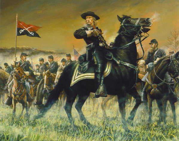Dan Nance - George Custer USA Print