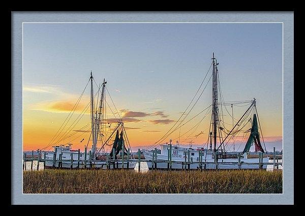 Drew Castelhano - Shrimp Boats Print