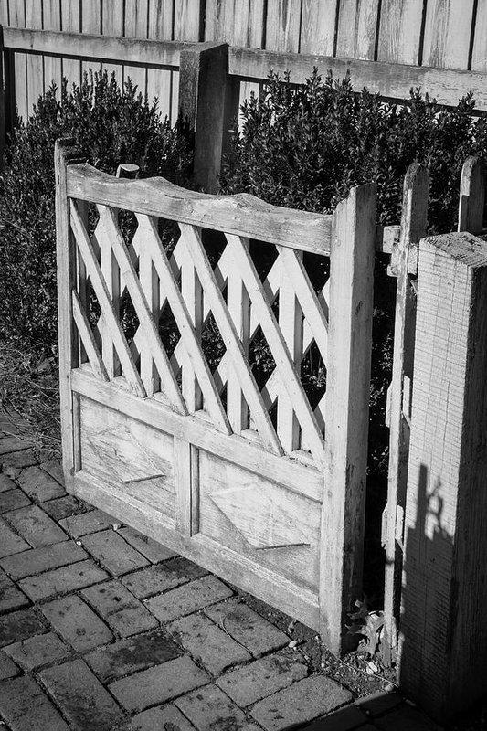 Teresa Mucha - Open Garden Gate B W Print