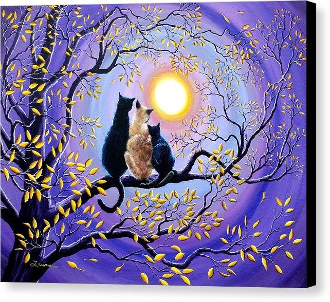 Laura Iverson - Family Moon Gazing Night Print