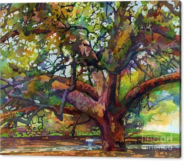 Hailey E Herrera - Sunlit Century Tree Print