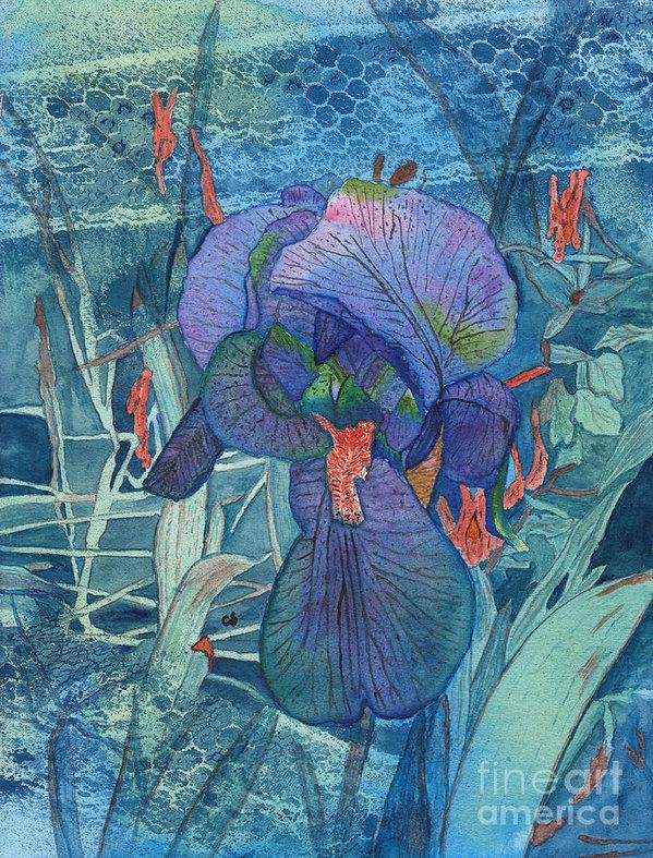 Conni Schaftenaar - Iris Lace with Wild Colum... Print