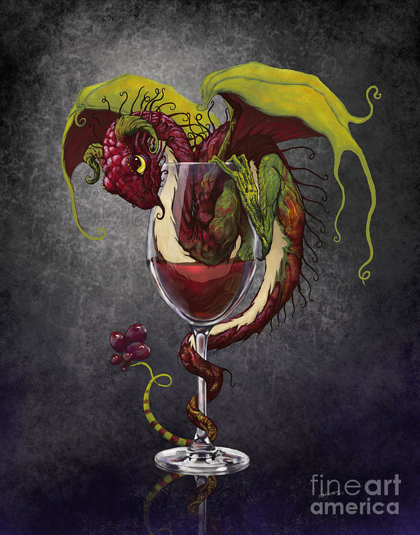 Stanley Morrison - Red Wine Dragon Print