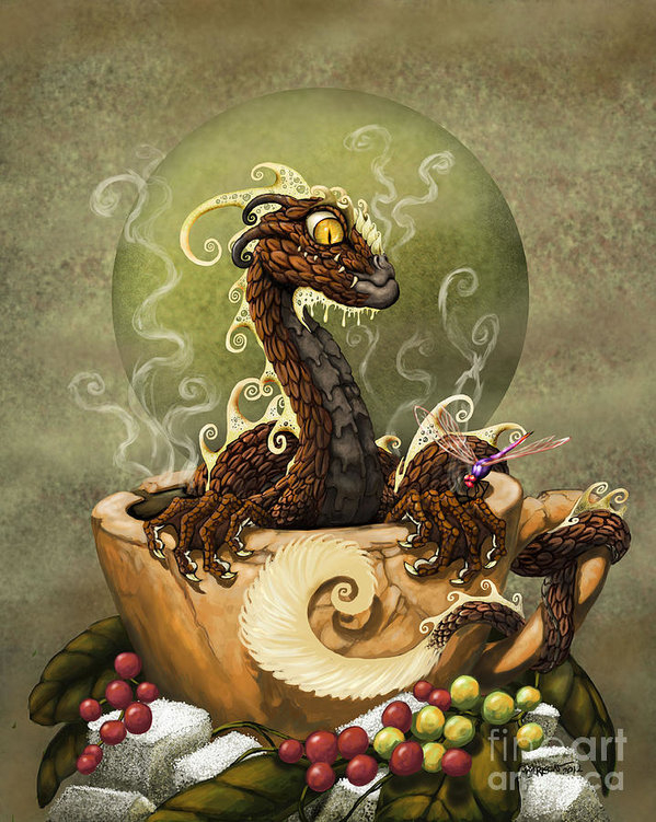 Stanley Morrison - Coffee Dragon Print