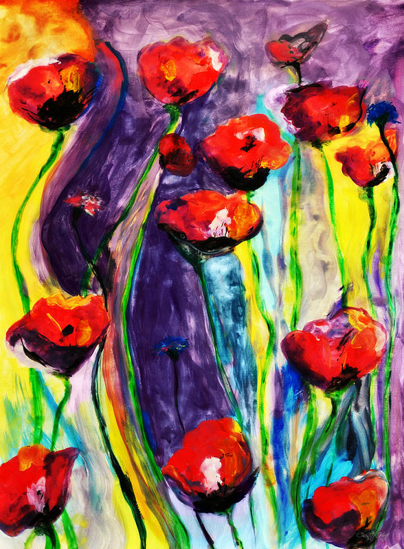 Chastity Hoff - Poppies and Wildflowers Print
