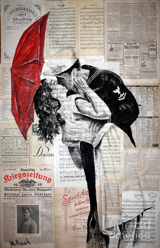 Krzyzanowski Art - Famous kiss Print