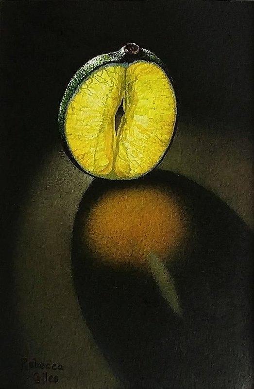 Rebecca Giles - Glowing Lime Slice Print