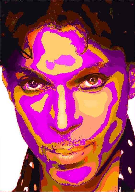 Samuel Majcen - Colorful Prince - Purple Print