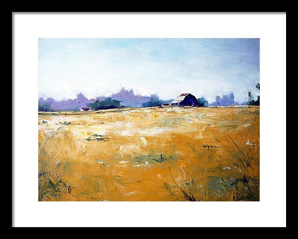 RB McGrath - Landscape with Barn Print