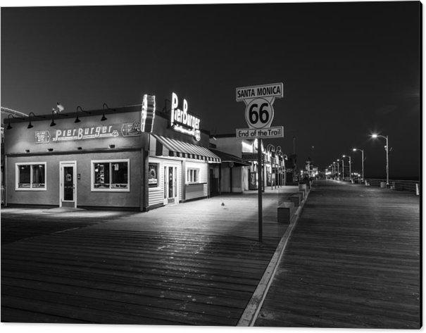 John McGraw - Route 66 Santa Monica Bla... Print
