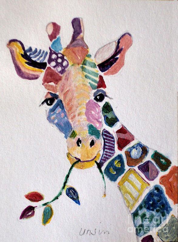 Diane Ursin - Patchwork Giraffe Print