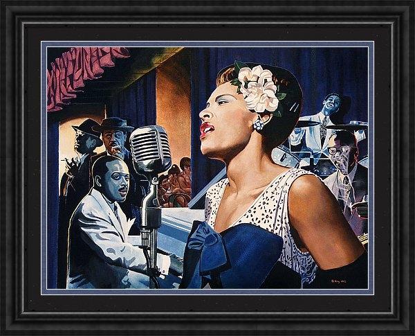 Jo King - Billie Holiday - Lady Sin... Print