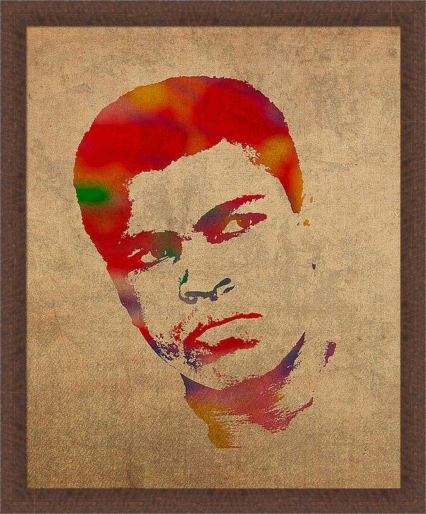 Design Turnpike - Muhammad Ali Watercolor P... Print