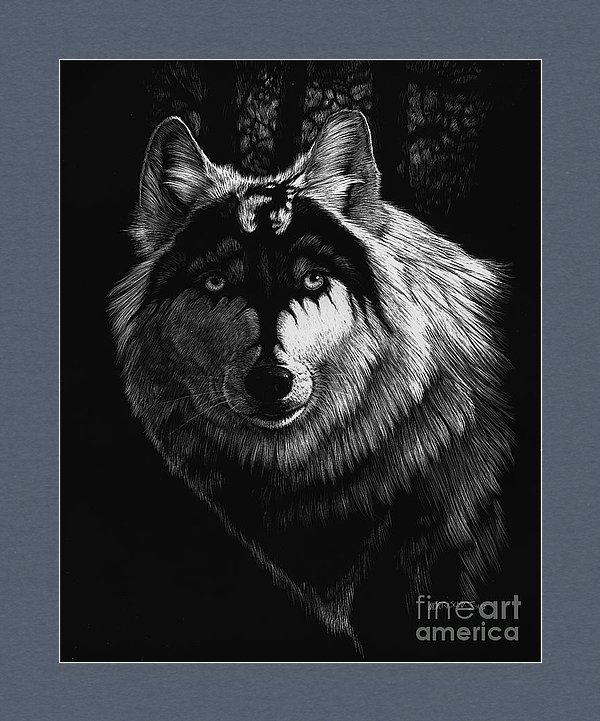 Stanley Morrison - Dragon Wolf Print