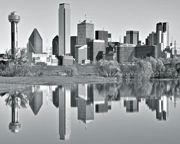 Frozen in Time Fine Art Photography - Charcoal Big D Reflection Print