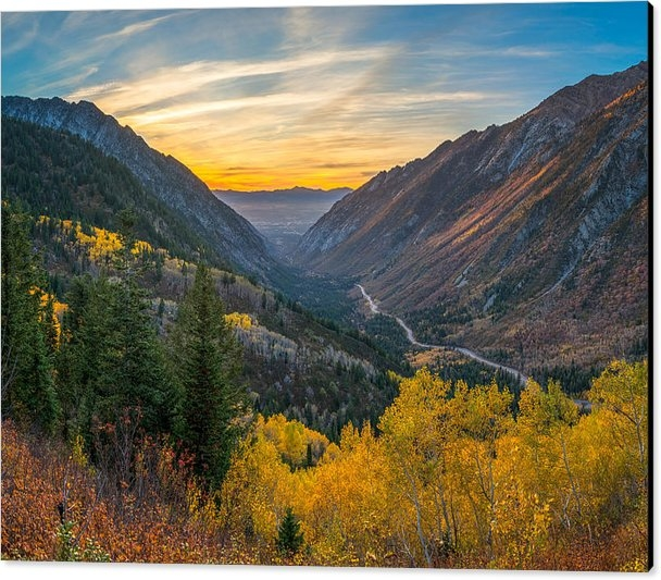 James Udall - Fall Sunset in Little Cot... Print