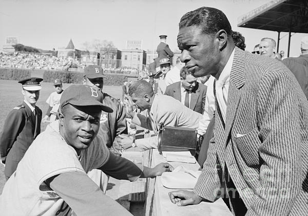 The Harrington Collection - Jackie Robinson and Nat King Cole at Wrigley Field