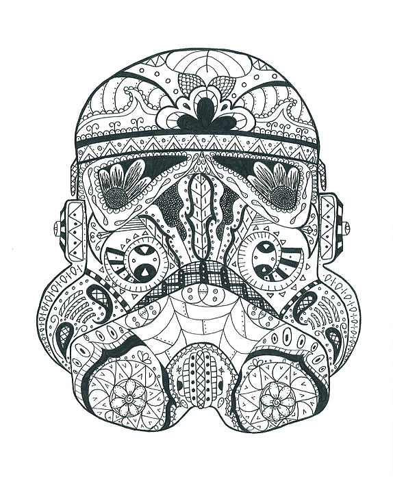 stormtrooper 1 greeting card for sale by malina alexander. Black Bedroom Furniture Sets. Home Design Ideas