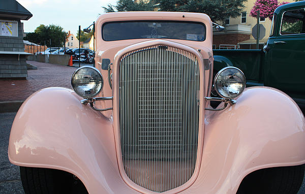 John Telfer - 1934 Chevy Two Door Pink Lady Sedan Front View