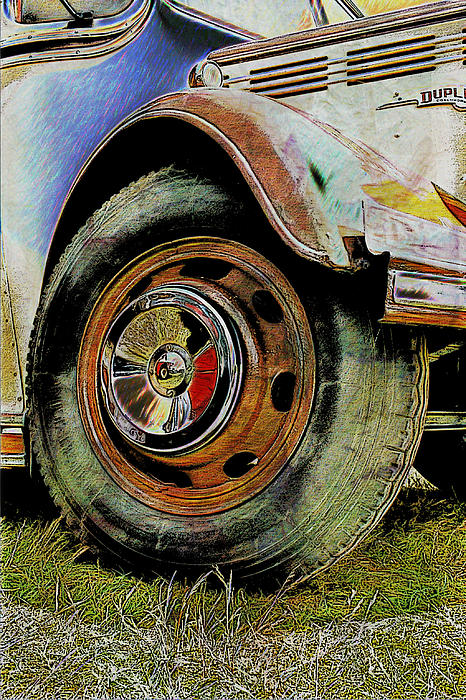 Colin Hunt - 1949 Bedford OB 29 Seater Bus Front Wheel