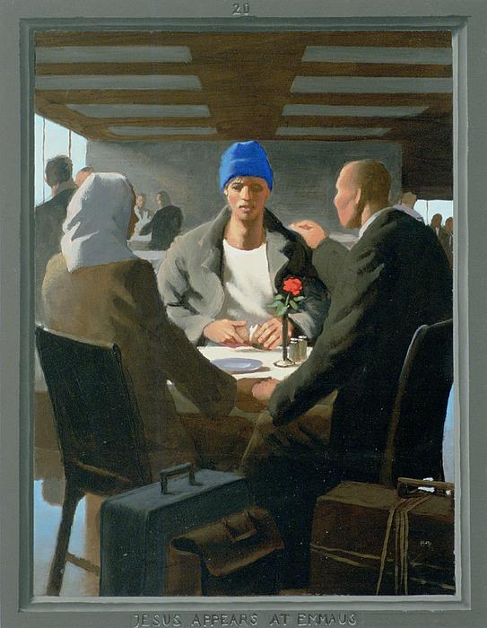 Douglas Blanchard - 20. Jesus Appears at Emmaus / from The Passion of Christ - A Gay Vision