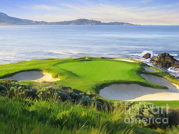 Tim Gilliland - 7th Hole At Pebble Beach