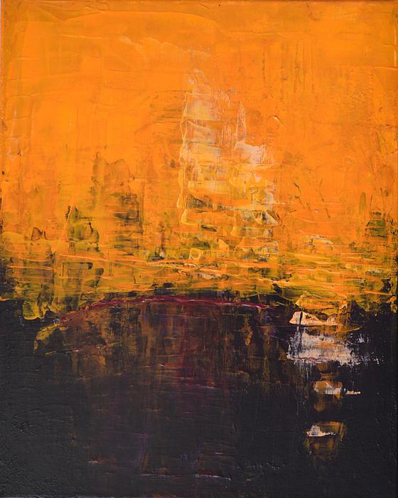 Belinda Capol - ANCIENT WISDOM orange brown Abstract by Chakramoon