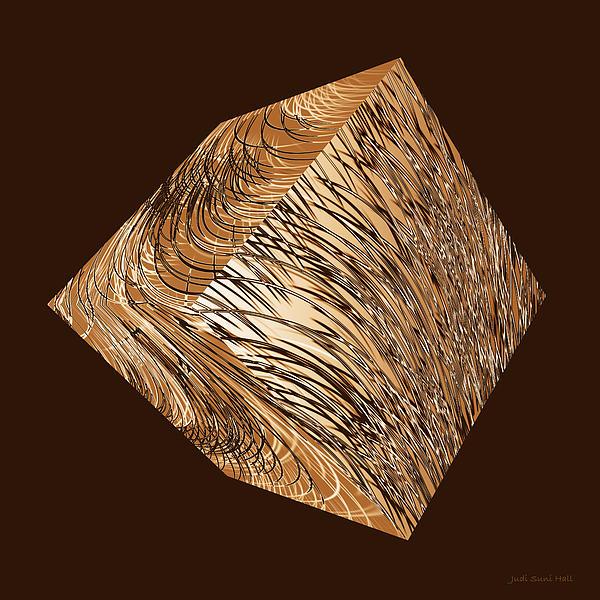 Judi Suni Hall - Antique White Gold Abstract Cube