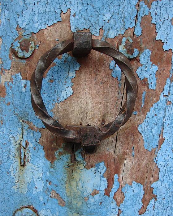 Ramona Johnston - Avignon Door Knocker on Blue