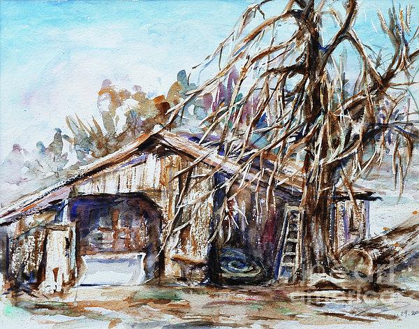 Xueling Zou - Barn by the Tree