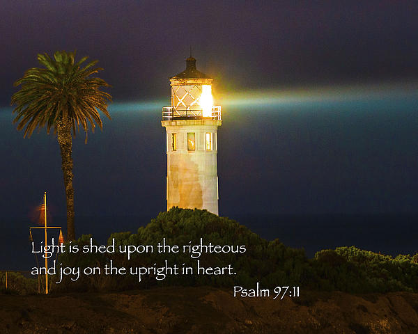 Beach Lighthouse Inspirational Bible Scripture Passages