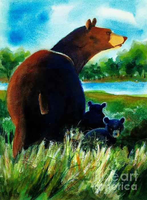 Kathy Braud - Bear Family at the Lake
